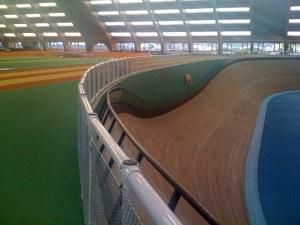 INSEP velodrome inside the indoor track