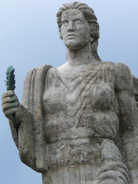 Statue at the Olympic Stadium